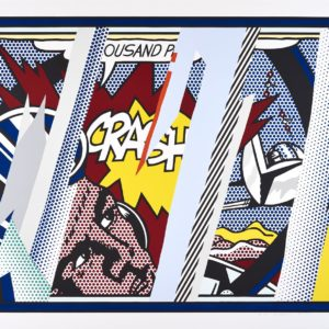 Reflections on Crash 1990 Roy Lichtenstein 1923-1997 ARTIST ROOMS   Tate and National Galleries of Scotland. Lent by The Roy Lichtenstein Foundation Collection 2015 http://www.tate.org.uk/art/work/AL00368